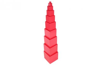 Torre Rosa Montessori - vista lateral - Material Montessori