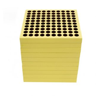 45 tablas de centenas-vista frontal-material montessori