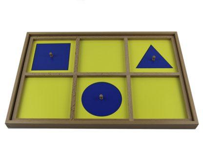 Bandeja de demostraciones gabinete geométrico-Material Montessori-vista frontal