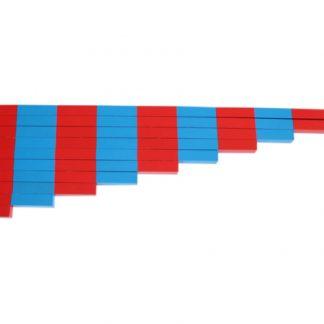 barras numéricas-vista frontal-material montessori