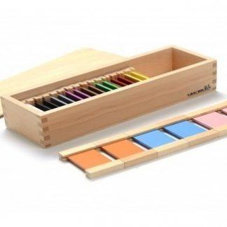 Caja de colores de madera II - material montessori-vista frontal