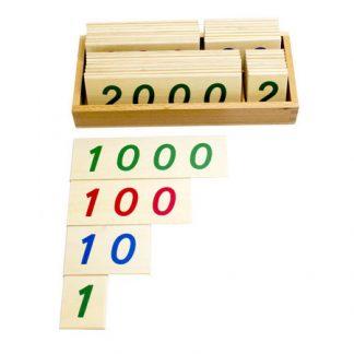 Caja de números del 1 al 9000-vista frontal-material montessori