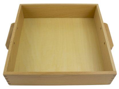 Caja para 9 cubos de millares-vista frontal-material montessori