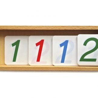 Caja de números grandes-Material Montessori