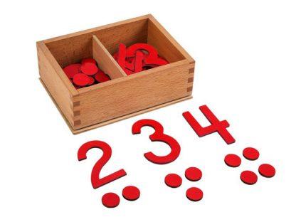 Caja de números y contadores-vista frontal-material montessori