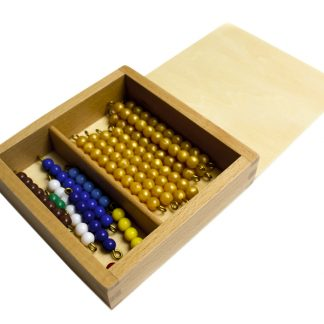 Caja de perlas del 1 al 10 - Material Montessori-vista frontal