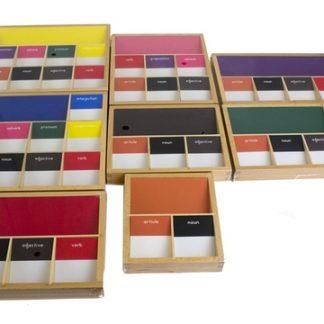 Cajas Gramaticales I-vista frontal-material montessori