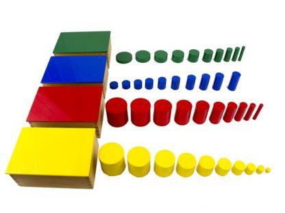 Cilindros de colores - Material Montessori