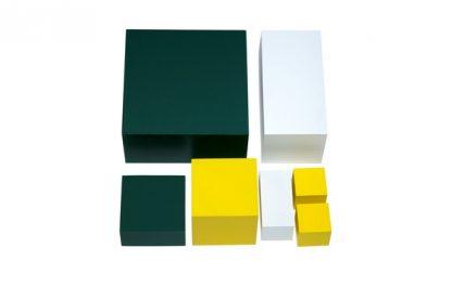 Cubo potencias del 2 - Material Montessori-vista frontal