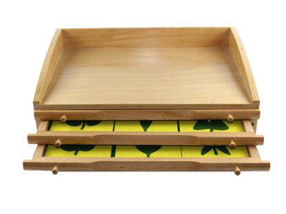 Gabinete de Hojas - Material Montessori- vista frontal
