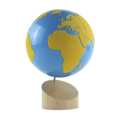 Globo Terráqueo de Lija - Material Montessori-vista frontal