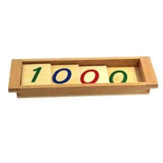 Introducción al sistema decimal-Material Montessori-vista frontal