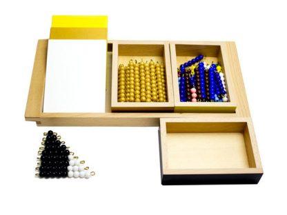 Juego de la serpiente. Multiplicación - Material Montessori-vista frontal