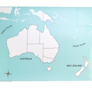Mapa Mudo: Australia-Material Montessori-vista frontal
