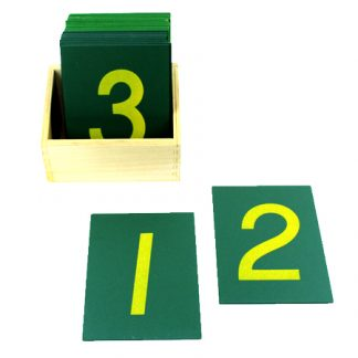 Números de lija-vista frontal-material montessori
