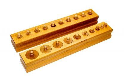 Pack 4 bloques de cilindros de madera,vista lateral,foto redes sociales,mmm052
