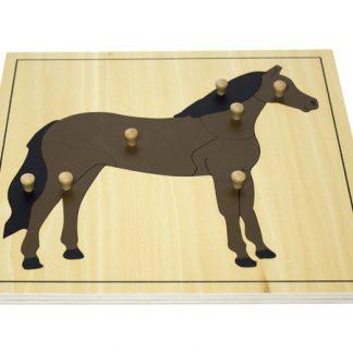 Puzzle del Caballo - Material Montessori- vista frontal