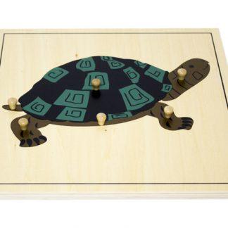 Puzzle de la Tortuga - Material Montessori-vista frontal