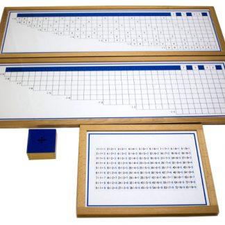 Quality Premium Tablero de división-Material Montessori-vista frontal