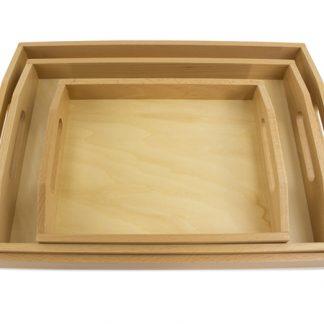 Set de bandejas - Material Montessori