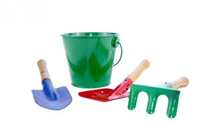 Set de herramientas pequeñas de jardín.