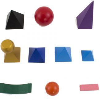 Símbolos gramaticales sólidos-Material Montessori