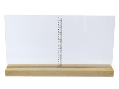 Stand cálculo de áreas-material montessori- vista frontal