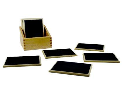 Tablas de lija-Material Montessori-vista frontal