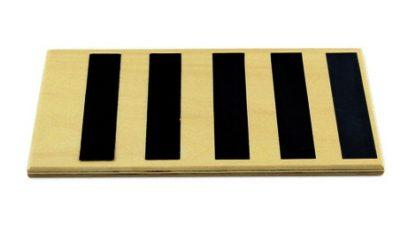 Tabletas lisas y rugosas-Material Montessori-vista frontal