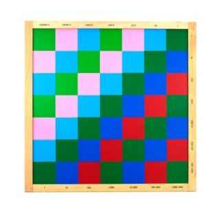 Tablero de Ajedrez para Multiplicación Decimal - Material Montessori-vista frontal