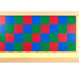 Tablero de ajedrez - Material Montessori- vista frontal