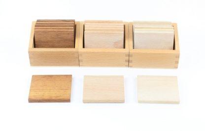 Tablillas báricas de madera - Material Montessori-vista frontal