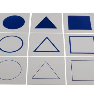 Tarjetas de control de los cuerpos geométricos del Gabinete de geometría. ref: MMM080