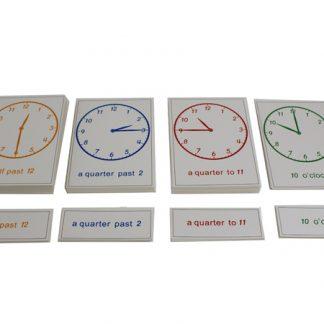 Tarjetas del reloj - Material Montessori-vista frontal