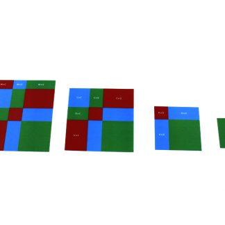Tarjetas Raíz Cuadrada - Material Montessori-vista frontal