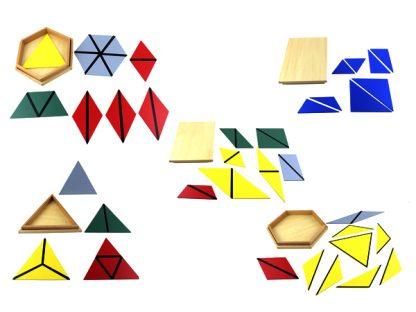 Triángulos constructores Montessori