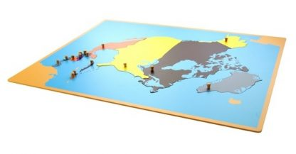 Puzzle: Mapa de América del Norte-Material Montessori