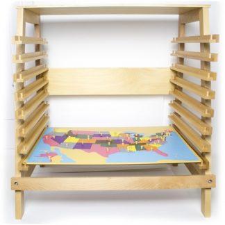 Mueble para Mapas Puzzle de Geografía - Material Montessori-vista frontal