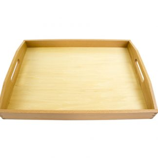 Material Montessori - Bandeja de madera mediana