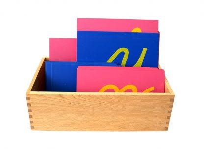 Letras de Lija en Cursiva con Caja de Madera Grande -Material Montessori