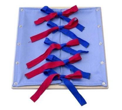 bastidor-de-lazos-vista frontal - Material Montessori