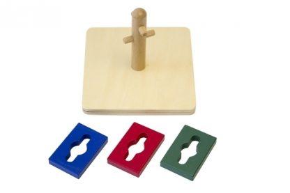 MMM015 - Girar y clasificar montessori - material montessori - vita frontal piezas ordenadas