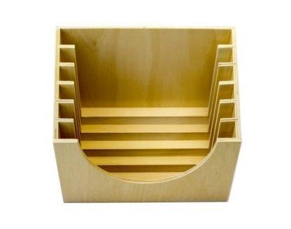 Base de madera para 6 marcos - Material Montessori