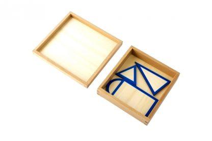 Bases geométricas de sólidos con caja-vista superior-material montessori
