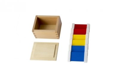 MMM068 - Tabletas de color de plástico (1a caja) - Material Montessori- vista frontal