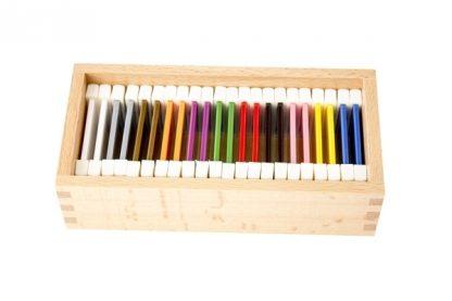 Tabletas de color de plástico (2a caja) - Material Montessori-vista frontal