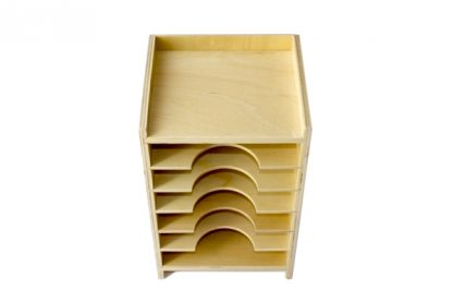 Gabinete de tarjetas geométricas - Material Montessori-vista frontal