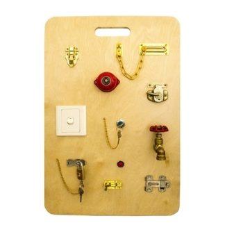 tablero de candados- vista superior-material montessori