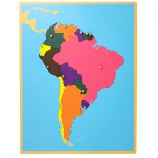 Puzzle: Mapa de América del Sur - Material Montessori