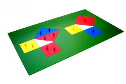 Teorema de Pitágoras - Material Montessori- vista frontal
